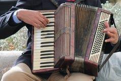 Akkordeonspieler Stockbild