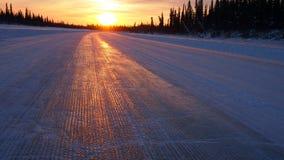 Aklavik lodu droga Obrazy Stock