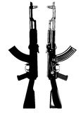 Akm. Vector image of the automatic machine AK 47 Stock Image