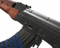 Akm assault rifle 3d illustration Royalty Free Stock Image