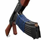 Akm assault rifle 3d illustration Stock Images