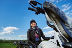 Opening of Lithuanian bikers season, meeting in rural tourism homestead, portraits. stock photos
