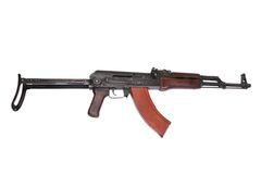 AKMS airborn version of Kalashnikov assault rifle Royalty Free Stock Images