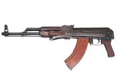 AKMS airborn version of Kalashnikov assault rifle Royalty Free Stock Image
