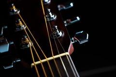 Akoestisch gitaarasblok Royalty-vrije Stock Afbeelding