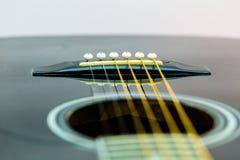 Akoestisch gitaardetail Stock Foto