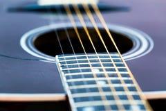Akoestisch gitaardetail Royalty-vrije Stock Fotografie