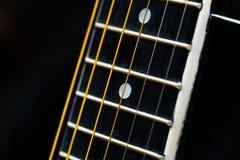 Akoestisch gitaardetail Royalty-vrije Stock Afbeelding