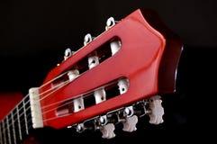 Akoestisch gitaarhoofd Stock Afbeelding