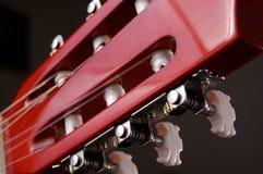 Akoestisch gitaarhoofd Stock Foto