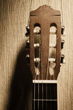 Akoestisch gitaarhoofd Royalty-vrije Stock Afbeelding