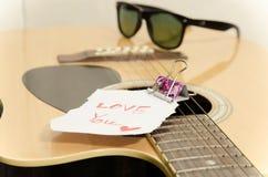 Akoestische gitaar Stock Fotografie