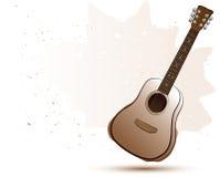 Akoestische gitaar in de stijl van de waterkleur Royalty-vrije Stock Foto
