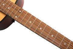 Akoestische gitaar die op een witte achtergrond wordt geïsoleerdt royalty-vrije stock fotografie