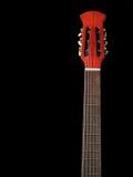 Akoestische gitaar op zwarte achtergrond 3 stock foto