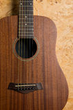 Akoestische gitaarachtergrond Stock Fotografie
