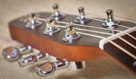 Akoestische gitaarhals Royalty-vrije Stock Afbeelding