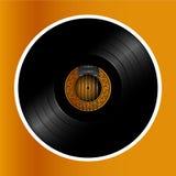Akoestische gitar calassic album vinylschijf Stock Foto's