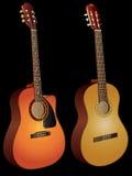 Akoestische gitaren Royalty-vrije Stock Afbeeldingen