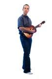 Akoestische Gitarist Stock Foto