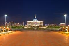 Akorda - residence President Republic of Kazakhstan in the evening. Astana Stock Photo