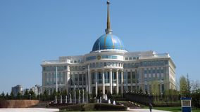 Akorda - the residence of the President of the Republic of Kazakhstan stock footage