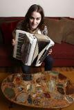 akordeon kobieta obrazy stock