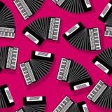 Akordeonu bezszwowy wzór Zdjęcie Stock