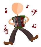 akordeonu gracz Obraz Stock