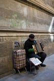 akordeonu gracza ulica zdjęcia royalty free