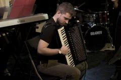 akordeonu zespół i gracz Zdjęcia Stock