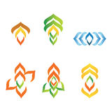 Abstract company business logos in akorn style stock photos