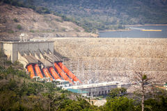Akosombo Hydroelectric Power Station on the Volta River in Ghana Royalty Free Stock Photo