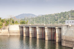 Akosombo Hydroelectric Power Station on the Volta River in Ghana Royalty Free Stock Photos