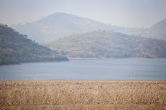 Akosombo Hydroelectric Power Station on the Volta River in Ghana Royalty Free Stock Images