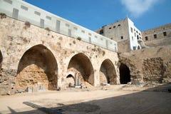Akr, Izrael - cytadela i więzienie Fotografia Stock