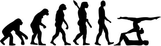 Akrobaci ewolucja ilustracja wektor
