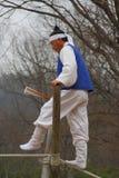 akrobacj ludowa koreańska balansowanie na linie wioska Obraz Royalty Free