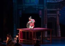Akrobacje na akrobatycznej showBaixi sen nocy Zdjęcia Royalty Free