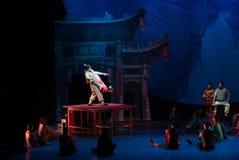 Akrobacje na akrobatycznej showBaixi sen nocy Fotografia Royalty Free