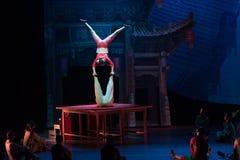 Akrobacje na akrobatycznej showBaixi sen nocy Zdjęcie Royalty Free