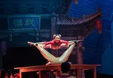 Akrobacje na akrobatycznej showBaixi sen nocy Obrazy Stock