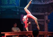 Akrobacje na akrobatycznej showBaixi sen nocy Zdjęcie Stock