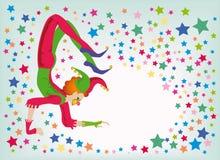 akrobata dowcipniś Obraz Royalty Free