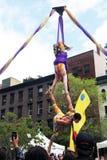 akrobata powietrzni Zdjęcia Royalty Free