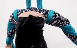 Akrobata przy super bowl wydarzeniem Fotografia Royalty Free