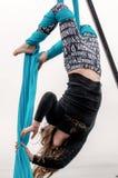 Akrobata przy super bowl wydarzeniem Zdjęcia Stock