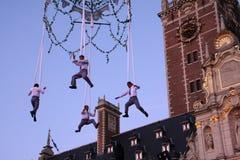 akrobata wietrzą wysokość zdjęcie royalty free