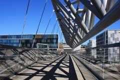 Akrobaten fot- bro i Oslo, Norge arkivbild