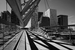 Akrobaten fot- bro i Oslo, Norge arkivfoto